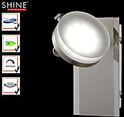 Foco de pared LED/lámpara de pared Shine de LED, Foco orientable, con interruptor, Fischer Leuchten 54971