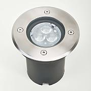 Foco LED empotrable en suelo AVA redondo, IP67