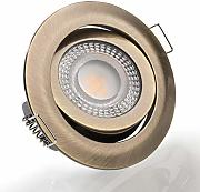 Foco LED empotrable orientable, plano, 4000 K,