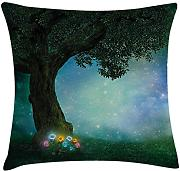 Forest Decor Throw Pillow Cushion Cover, Fairytale
