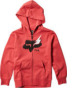 FOX Hellion Zip Jóvenes con capucha Rojo XL