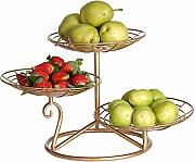 Fruit Bowl 3 Tier/Fruit Basket Metal Cocina Y Mesa