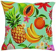 Funda de cojín tropical de lino para decoración