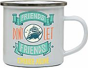 Funny cruise ship quote enamel camping mug outdoor