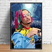 G157 Art Decor Juice Wrld J Cole Post Malone Mac