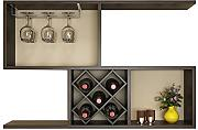 Gabinete De Vino Simple Montado En La Pared Wine