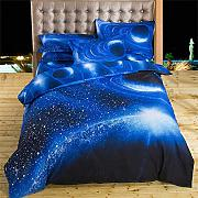 Galaxy Duvet Cover Set Single para Niñas Niños