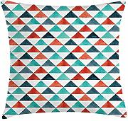 Geometric Throw Pillow Cushion Cover, Triangles