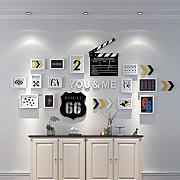 GuoEY Wall Simple Photo Frame Wall Sets of 13,