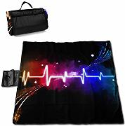 GuyIvan Heartbeat Extra Large Beach Blanket -