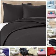 Highliving - Funda de edredón, Negro, King Duvet