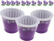 Homyl 3pcs Self Watering Maceta Accesorio Móvil