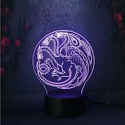 House Targaryen Sign Fire and Blood LED Multicolor