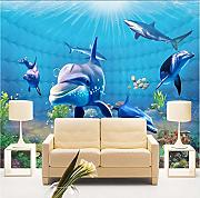 Hwhz Custom 3D Mural Wallpaper Underwater World
