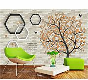 Hwhz Moda Minimalista Arte Golden Tree Wallpaper,