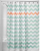 InterDesign Chevron Cortina de ducha de tela,
