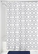 InterDesign Dotted Honeycomb Cortina de baño,