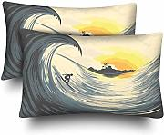 InterestPrint Tropical Island Wave Sunset - Juego