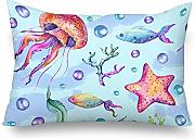 InterestPrint Watercolor Beach Sea Shells - Funda