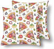 InterestPrint Watercolor Pizza - Juego de 2 fundas