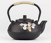 Japanese Cast Iron Teapot Kettle Plum Blossom