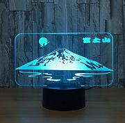Japanese Snow Mountain   Shape 3D LED Lámpara