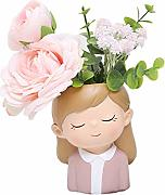 JK Home Cute Little Flowerpot Figura de Dibujos