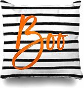 jonycm Pillowcase Boo Striped Halloween Cushion
