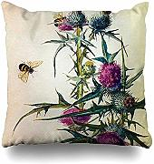 jonycm Pillowcase Thistle Bee Canvas Pillowslip