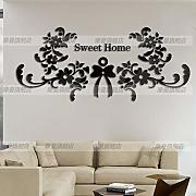 JWQT Pegatinas de pared Sweet Home 3D cristal