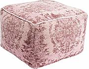 Kare Pouf Kelim Ornament Powder, Fucsia, 40 x 60 x