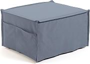 Kave Home - Puf cama Lizzie 70 x 60 (180) cm azul