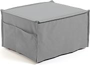 Kave Home - Puf cama Lizzie 70 x 60 (180) cm gris