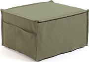 Kave Home - Puf cama Lizzie 70 x 60 (180) cm verde
