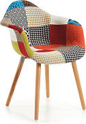 Kave Home - Silla Kevya patchwork multicolor