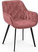 Kave Home - Silla Mulder terciopelo rosa
