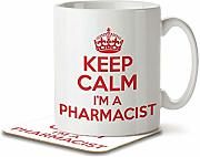 Keep Calm I 'm un farmacéutico - taza y