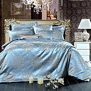 Kingsize Bedding Set,4Pieces Luxury Silk Cotton