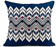 Kinhevao Throw Pillow Blue Abstract Ikat Tiene un