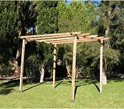 Kit Pérgola Madera Natural - Faura (240x240cm)