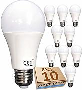 (LA) 10x Bombilla 7w A60 LED, blanco neutro