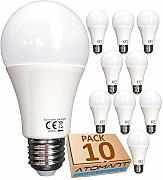 (LA) 10x Bombilla LED A60, Blanco neutro (4500K),