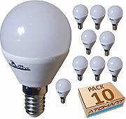 (LA) 10x Bombilla LED G45 7w, Blanco Calido