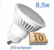 (LA) 10x GU10 LED 8,5W Potentisima! Halogeno LED
