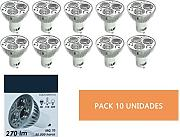 (LA) Pack 10 Halogeno Dicroica LED GU10 45° 3W