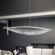 Lámpara colgante LED Amaca Swarovski long. 132cm