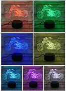 Lámpara de escritorio Motocicleta Led Night Light