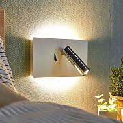 Lámpara de pared LED Elske con lámpara de lectura