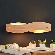 Lámpara de pared Lian de madera con LED atenuables