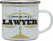 Lawyer funny enamel camping mug outdoor cup